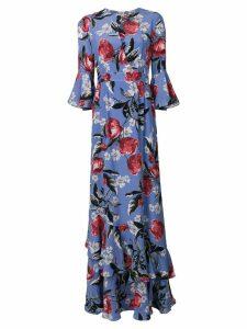 Erdem floral print gow - Blue