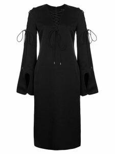 Ellery tie-detail shift dress - Black
