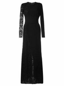 Fausto Puglisi lace panel dress - Black