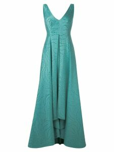 Talbot Runhof pleated skirt evening gown - Blue