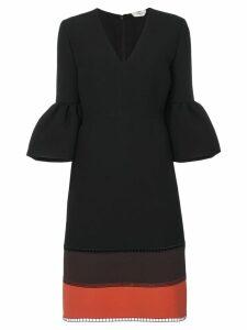 Fendi contrast panelled dress - Black