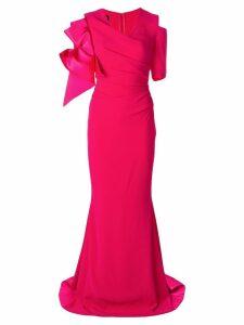 Talbot Runhof Pouf1 dress - PINK