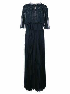 Talbot Runhof beaded boho evening gown - Blue