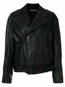 Tom Ford oversized biker jacket - Black