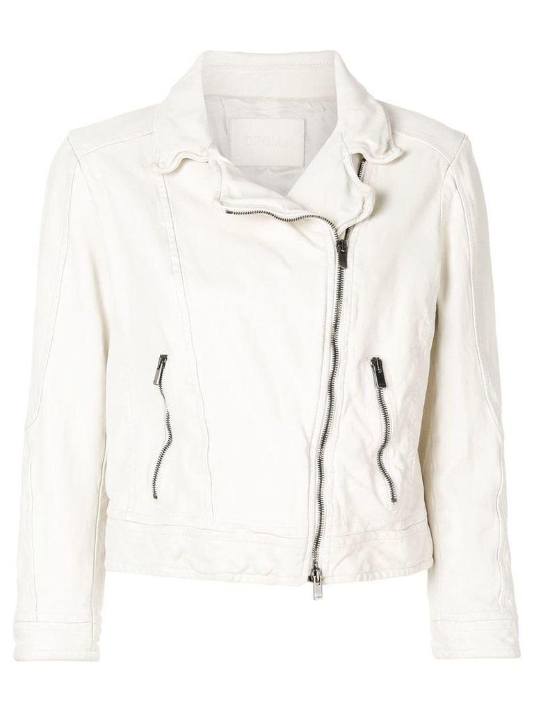 Drome cropped biker jacket - White