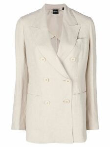 Aspesi double breasted blazer - NEUTRALS