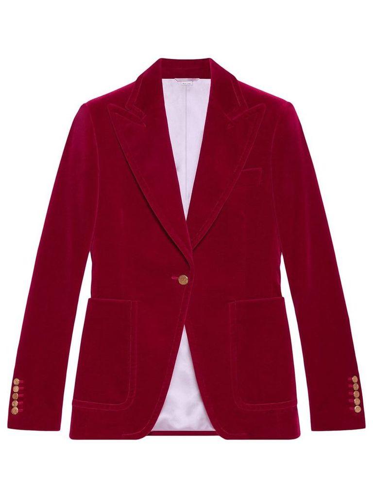 Gucci Velvet single-breasted jacket - Pink & Purple