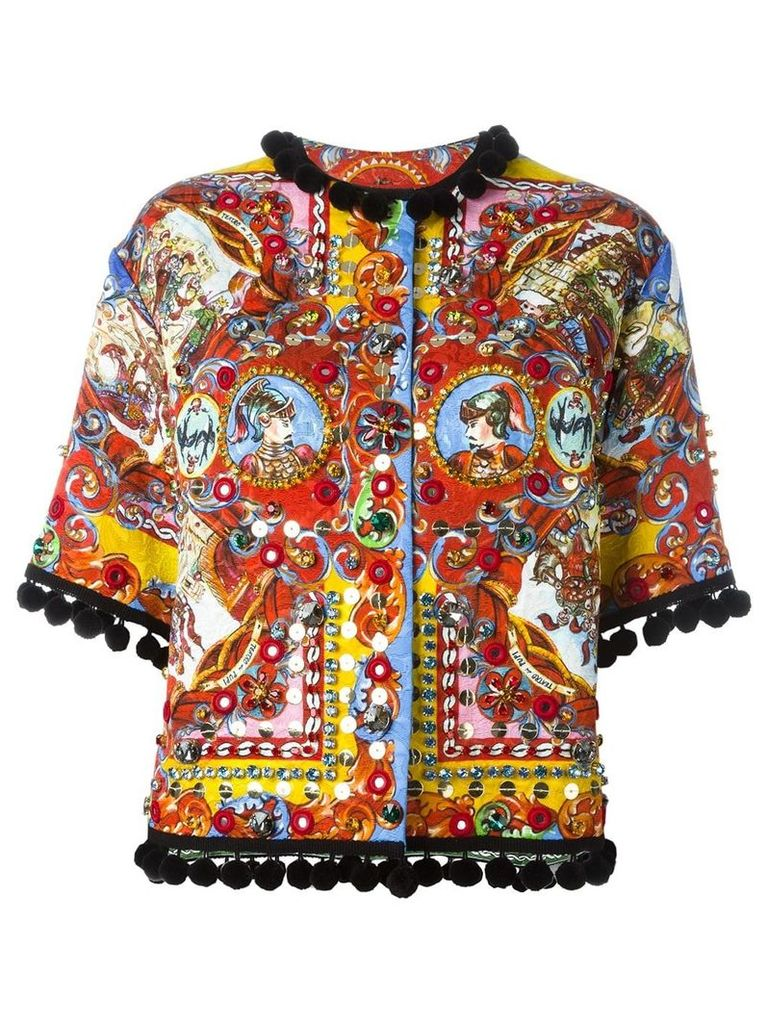 Dolce & Gabbana Carretto Siciliano print jacket - Red