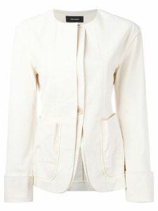 Isabel Marant collarless layered blazer - NEUTRALS