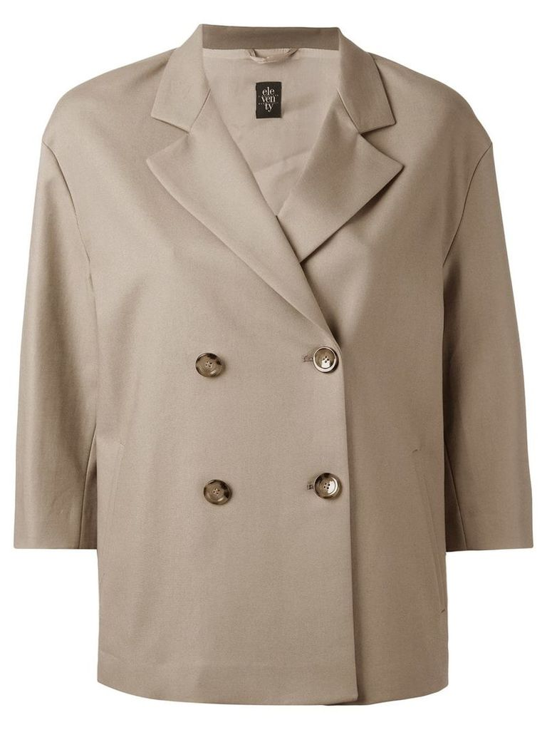 Eleventy double breasted jacket - Nude & Neutrals