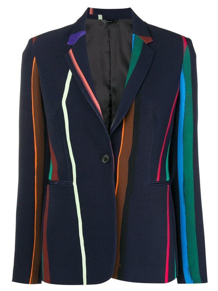 Paul Smith Black Label striped bomber jacket - Blue