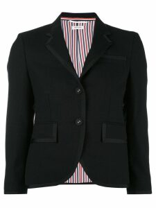 Thom Browne Classic Single Breasted Sport Coat With Grosgrain Tipping