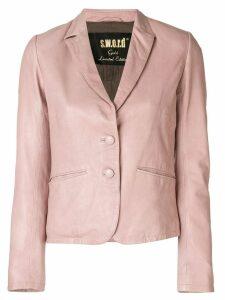 S.W.O.R.D 6.6.44 leather blazer - PINK