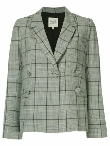 Sea Bacall plaid blazer - Grey