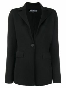 Salvatore Ferragamo classic single-breasted blazer - Black