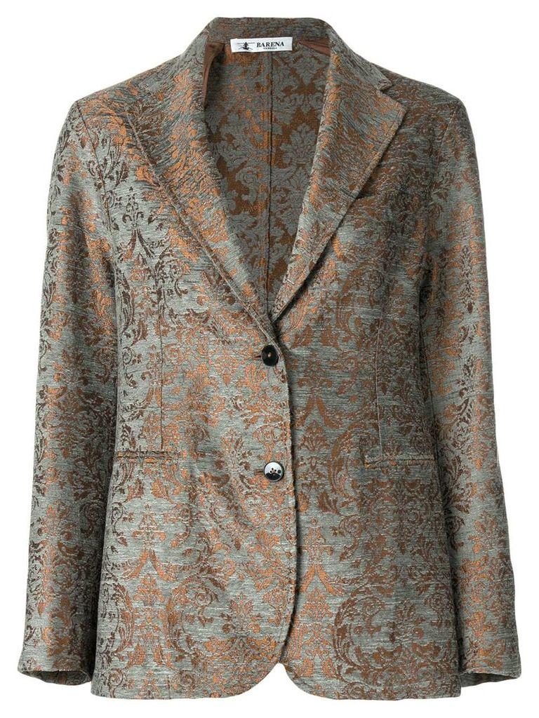 Barena patterned tailored jacket - Grey
