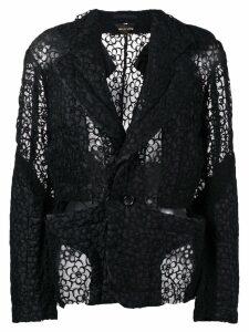 Comme Des Garçons floral lace jacket - Black