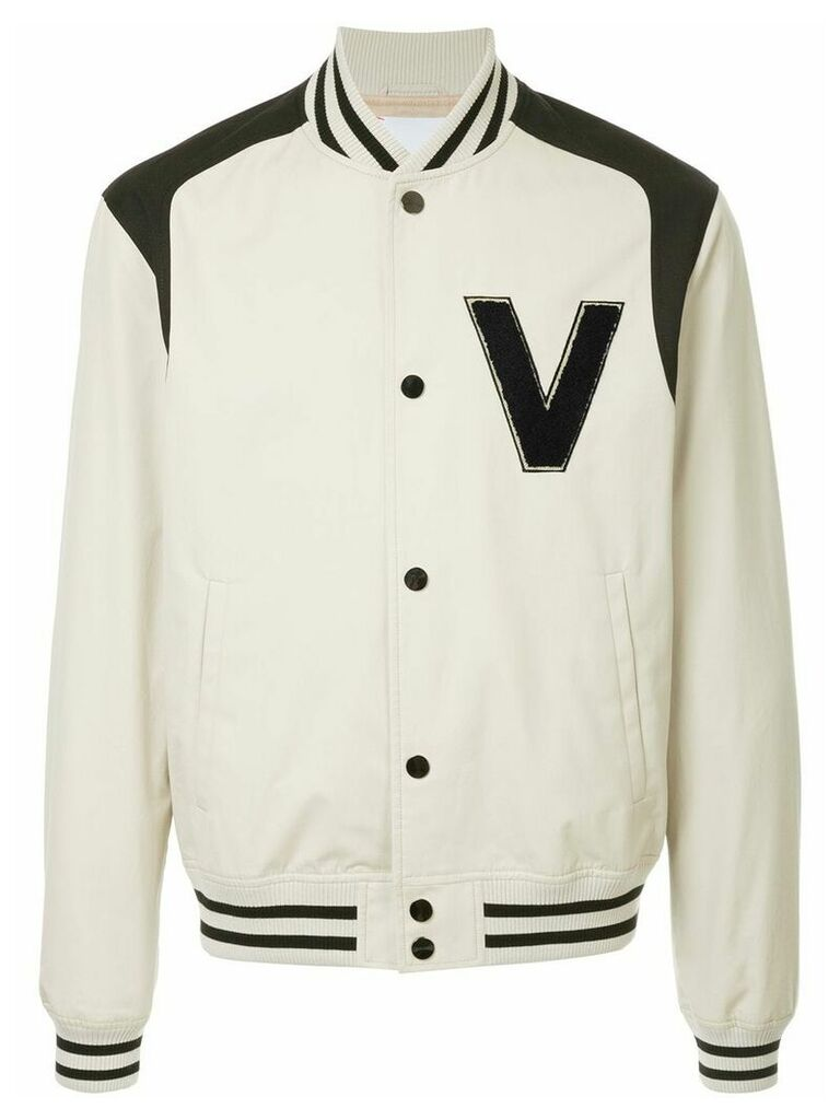 Ports V logo bomber jacket - Nude & Neutrals