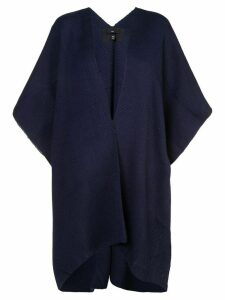 Voz knitted poncho - Blue