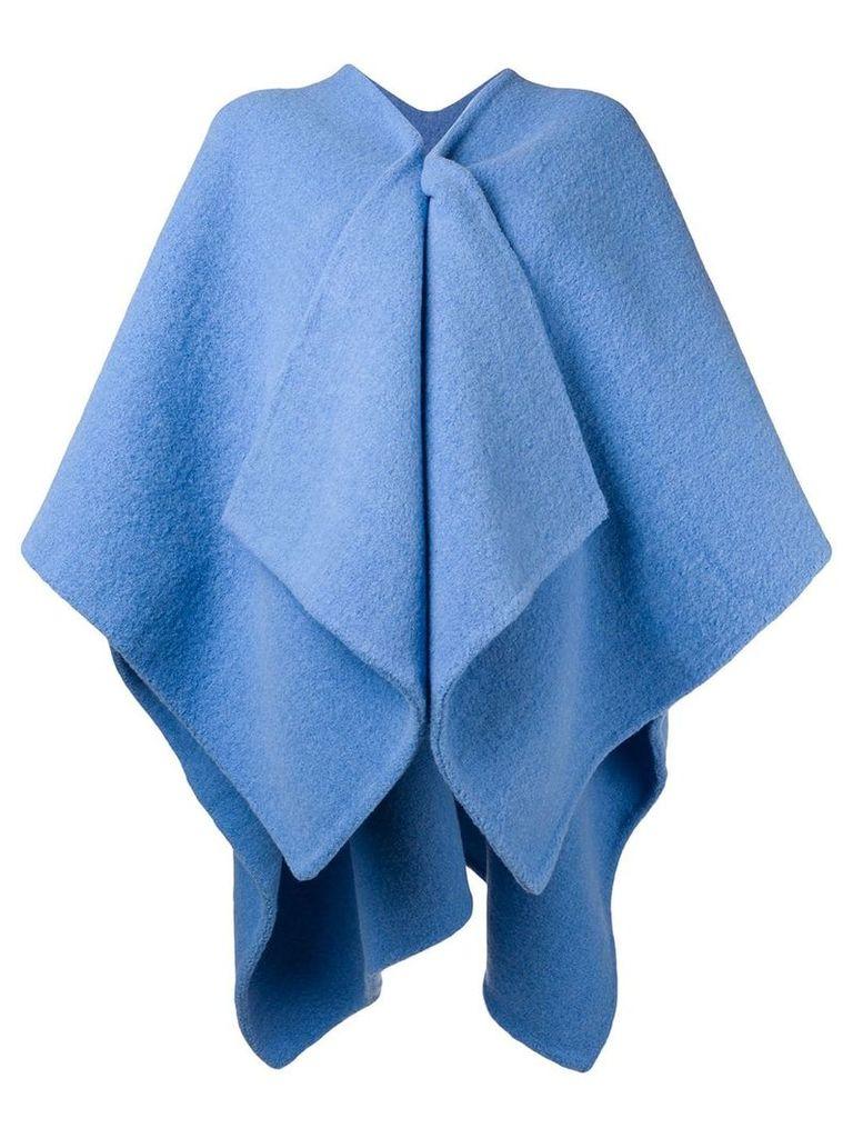 Burberry archive logo cape - Blue