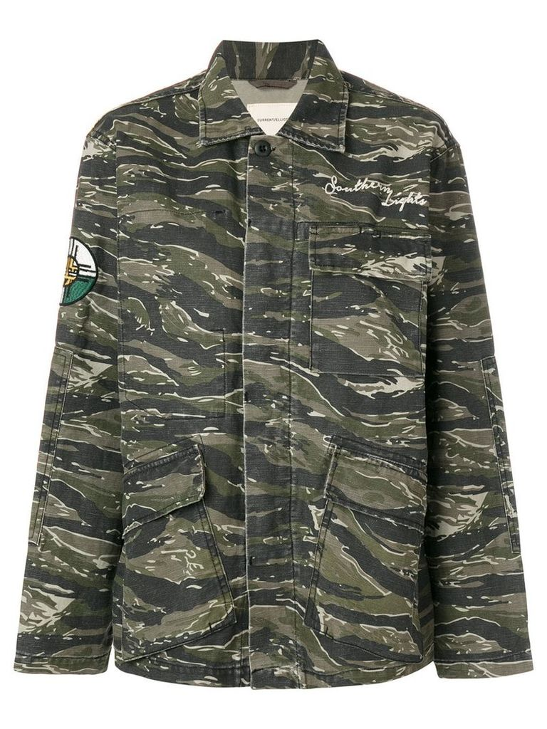 Current/Elliott camouflage patch jacket - Green