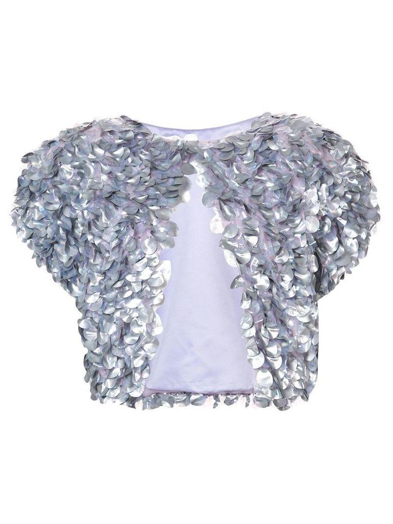 Rubin Singer sequin-embellished cropped jacket - Metallic