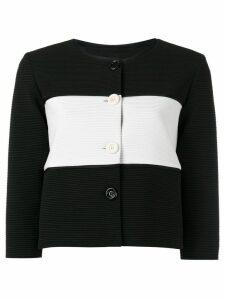 Boutique Moschino striped jacket - Black