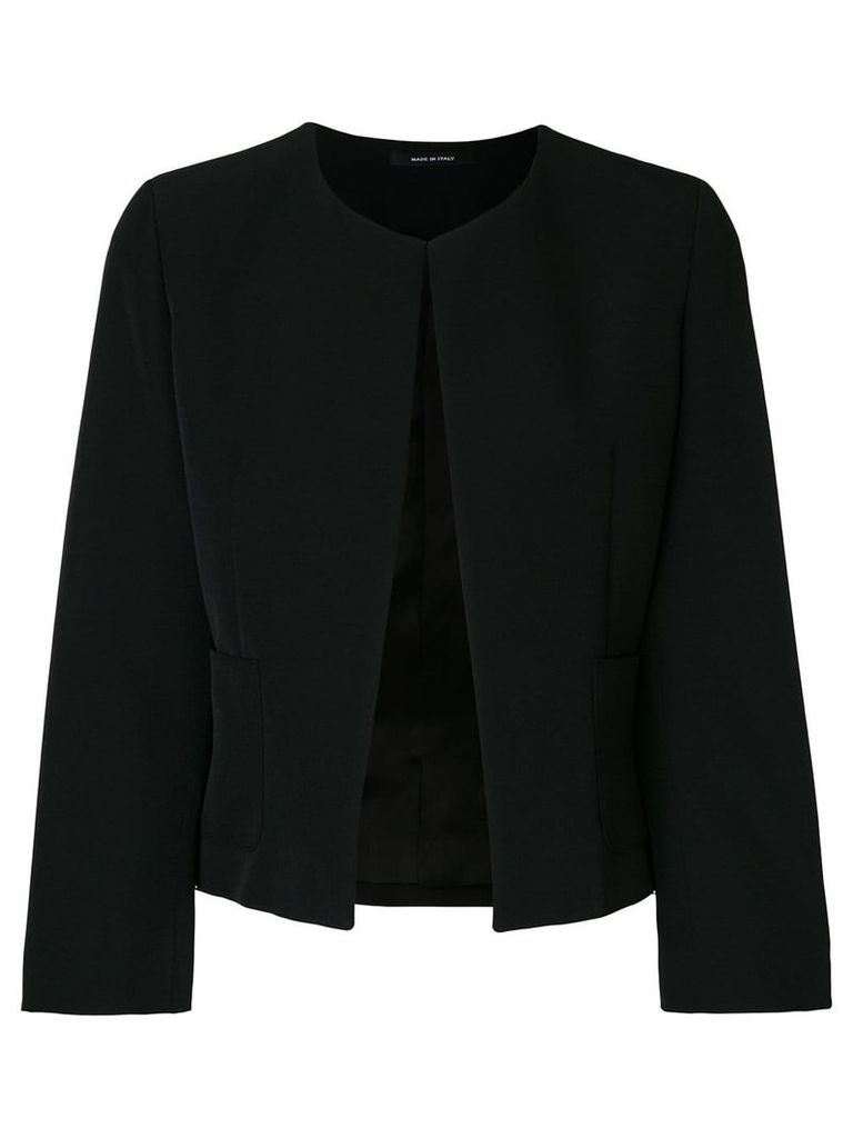Tagliatore Lucy collarless jacket - Black