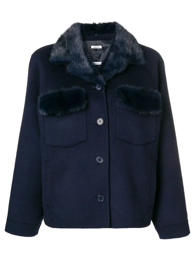 P.A.R.O.S.H. buttoned up jacket - Blue