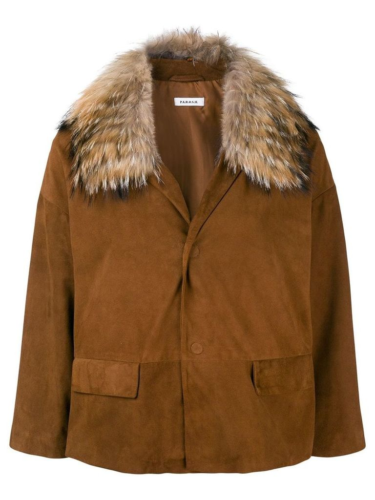 P.A.R.O.S.H. buttoned jacket - Brown