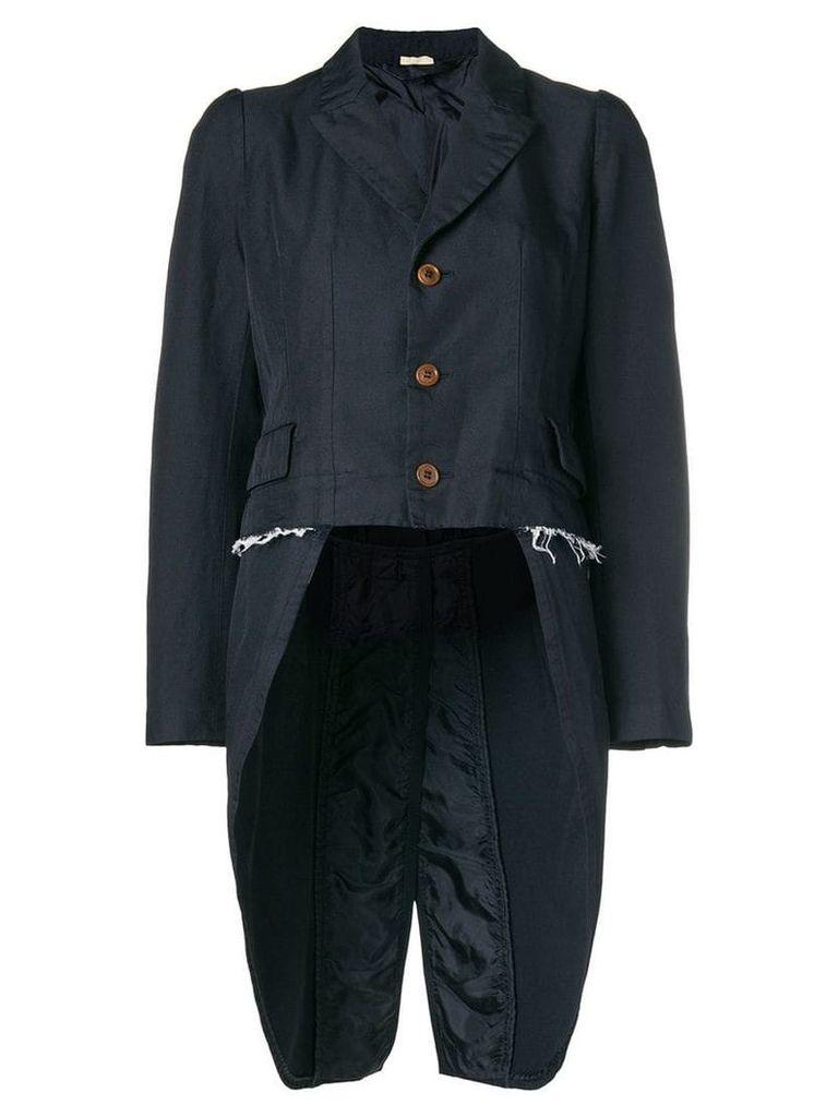 Comme Des Garçons Comme Des Garçons high low jacket - Blue