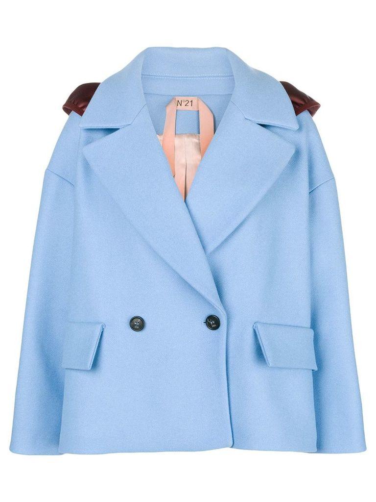 No21 cropped jacket - Blue