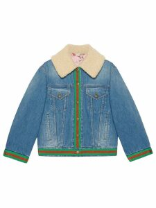 Gucci Denim jacket with shearling - Blue