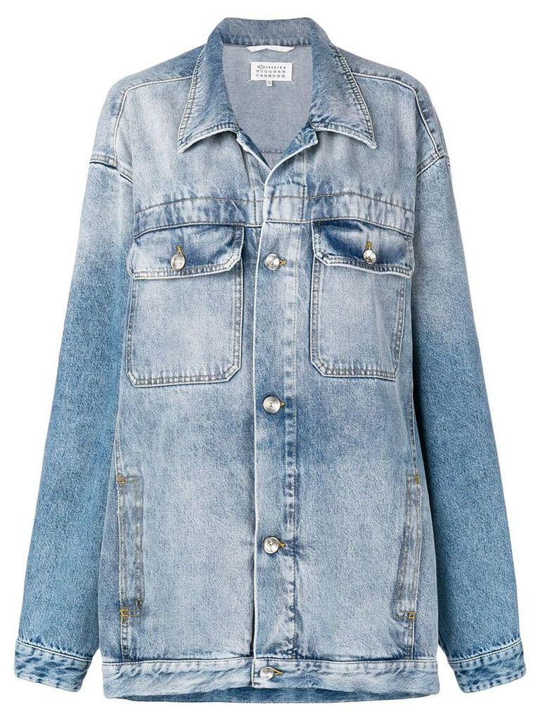 Maison Margiela oversized denim jacket - Blue
