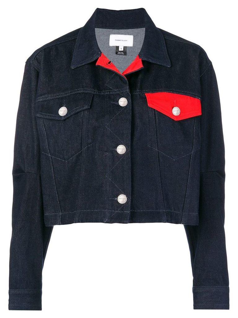 Current/Elliott cropped boxy denim jacket - Blue