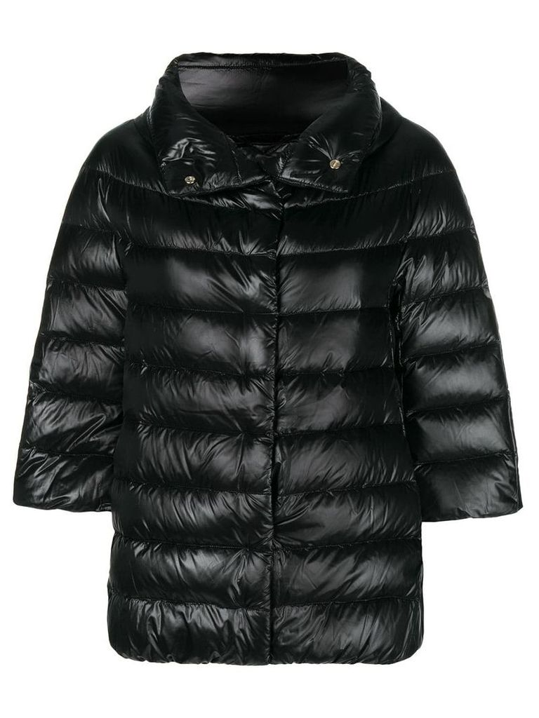 Herno 3/4 sleeve puffer jacket - Black