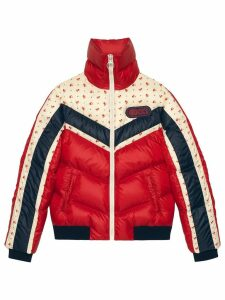 Gucci Nylon jacket with Gucci patch - Red