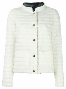 Herno high-neck jacket - White
