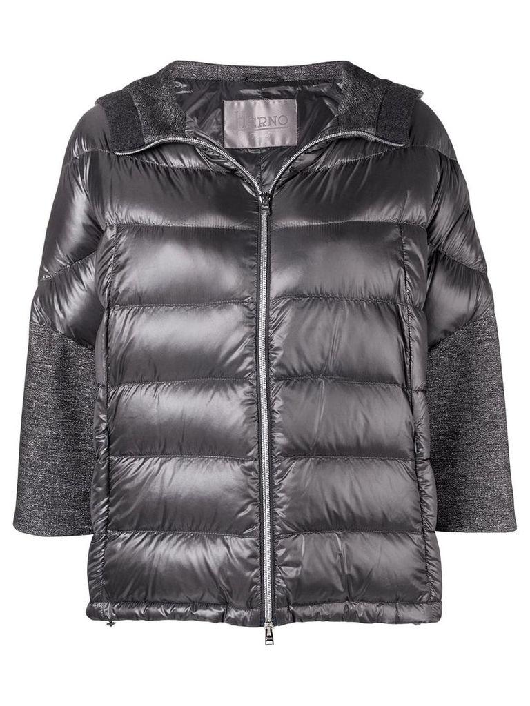 Herno sleeve detail puffer jacket - Grey