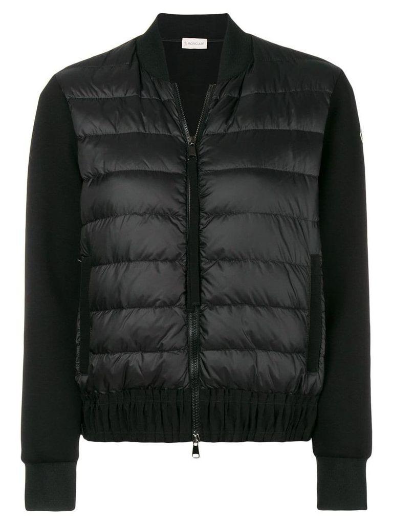 Moncler zipped padded jacket - Black