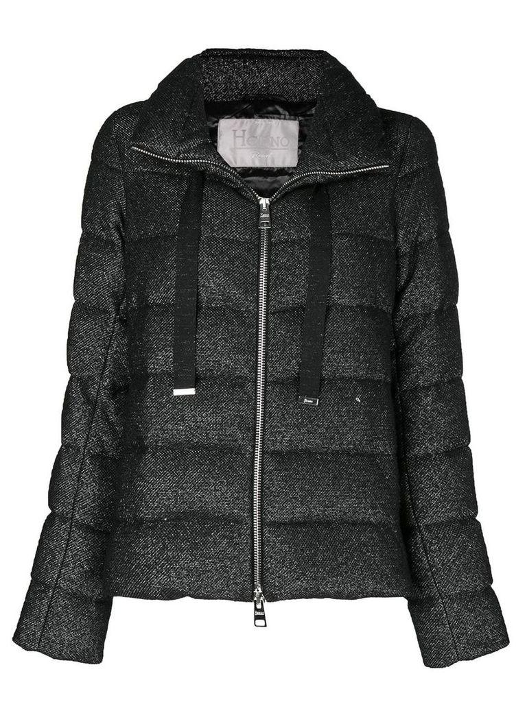 Herno Glow zipped puffer jacket - Black