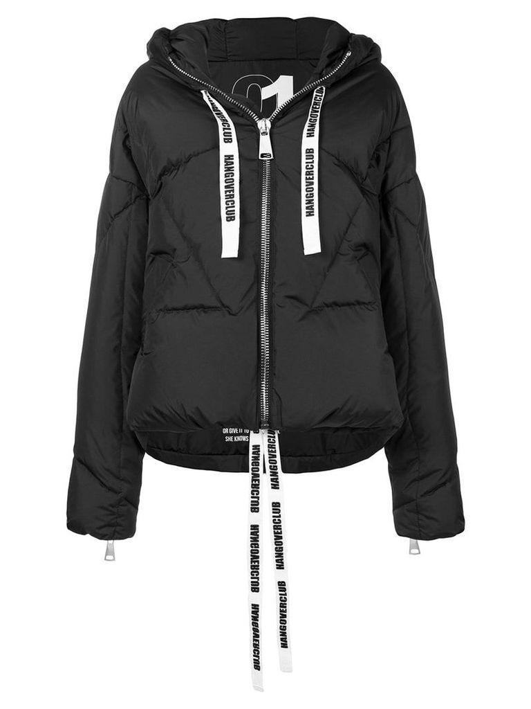 Khrisjoy logo tape puffer jacket - Black