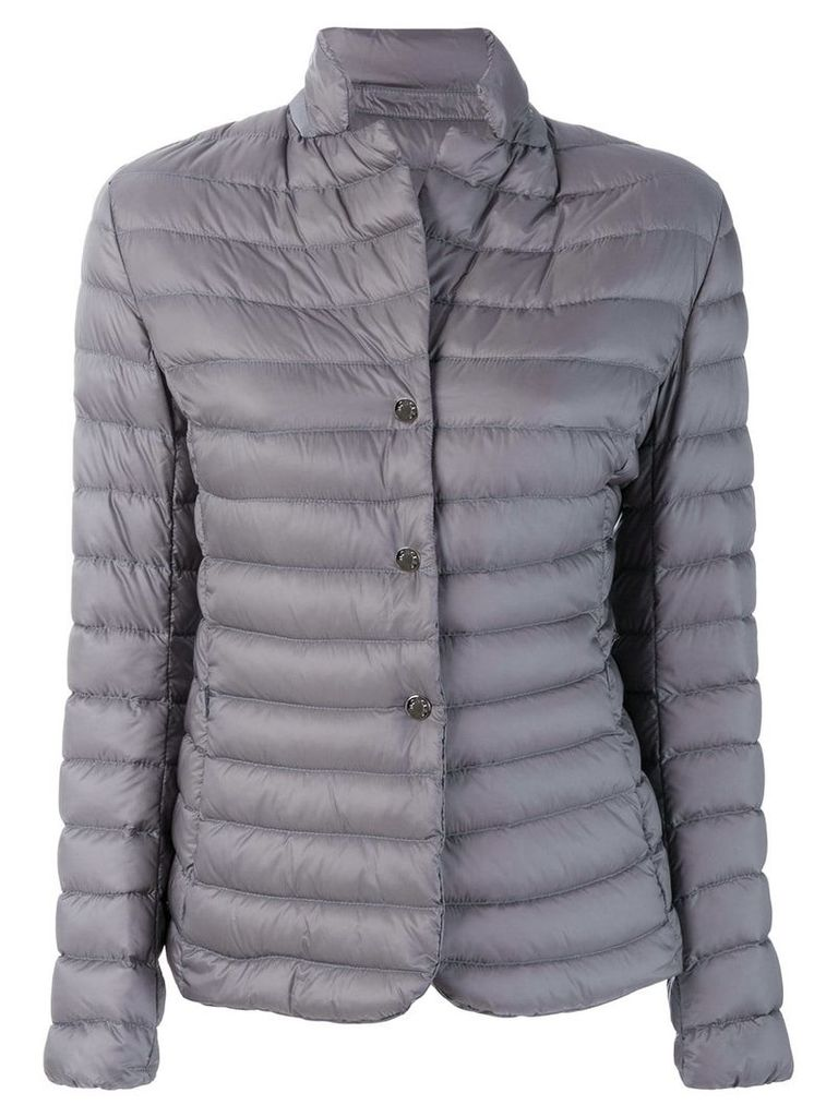 Moncler fitted padded jacket - Grey