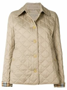Burberry Diamond Quilted Jacket - NEUTRALS