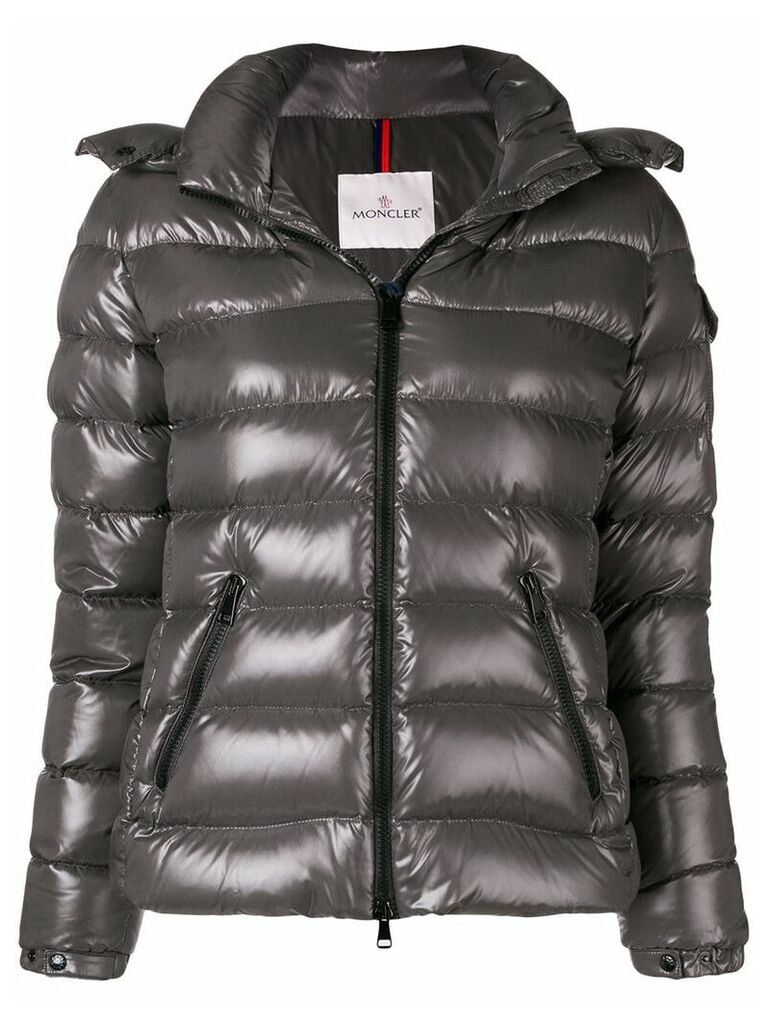 Moncler hooded padded jacket - Grey