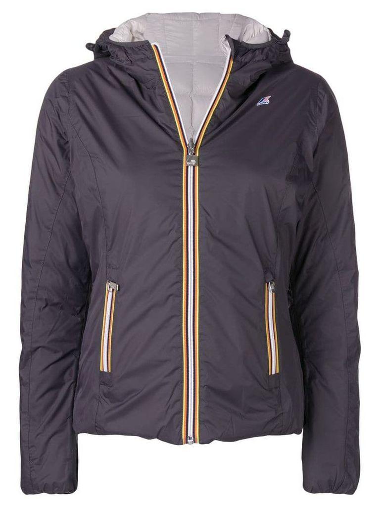 K-Way zipped padded jacket - Grey