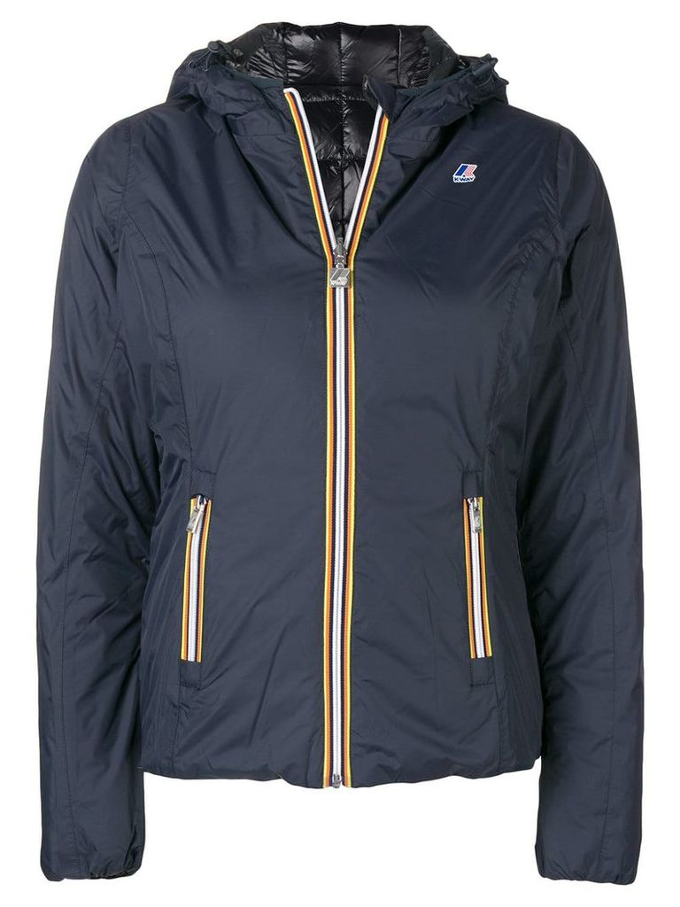 K-Way zipped padded jacket - Blue