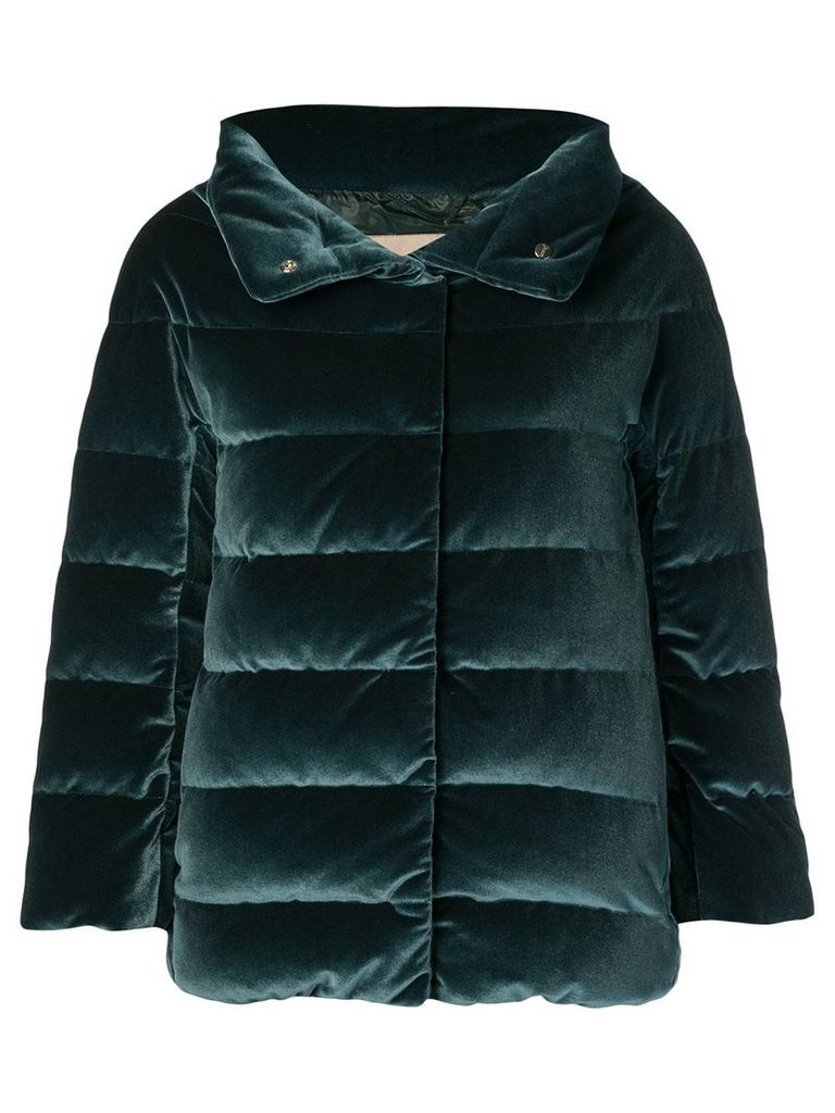 Herno concealed fastening padded jacket - Green