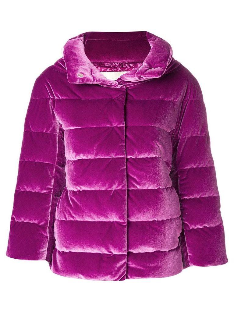 Herno concealed fastening padded jacket - Pink & Purple