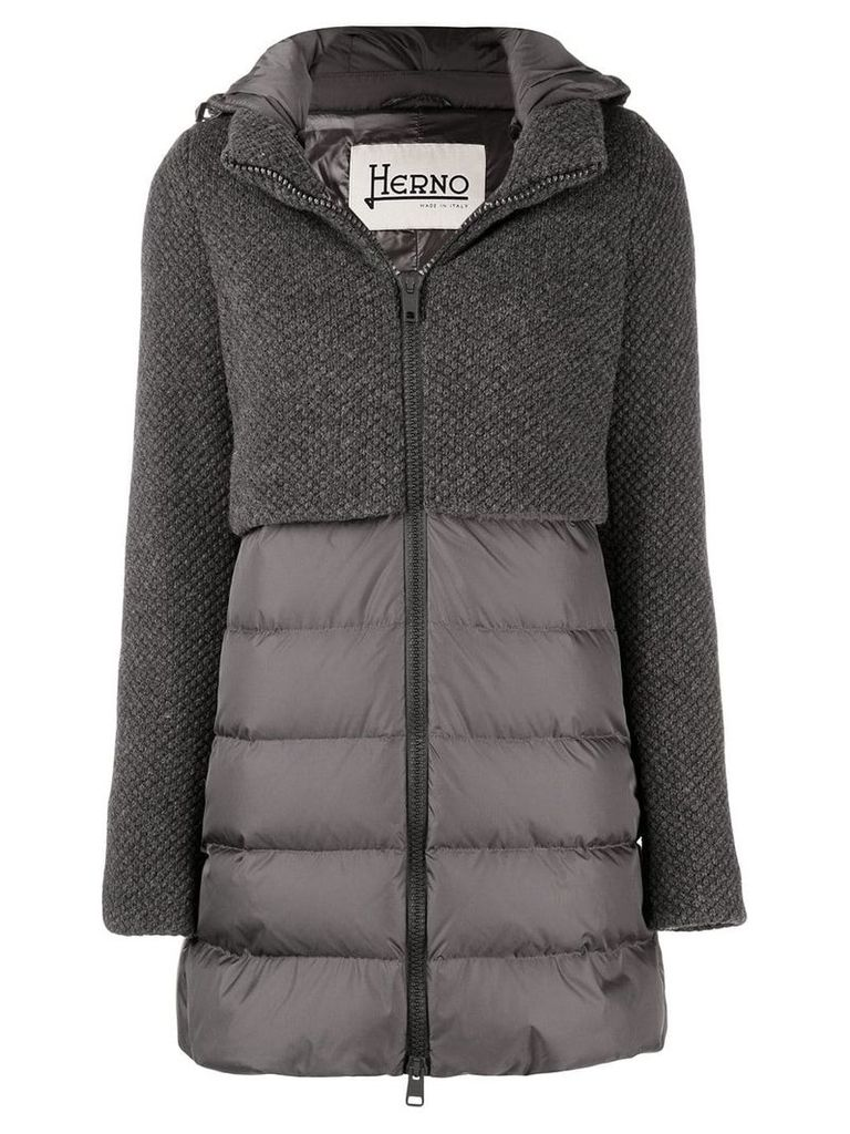 Herno hybrid padded jacket - Grey